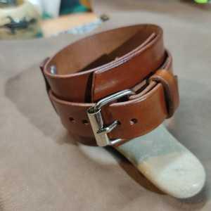Bracelet de force 45mm Simple lanières - Boucle 20mm - Couleur Brun Noisette