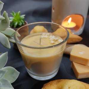 Bougie Madeleine Gourmande 100gr - Verre 75x75 - Cire de Soja et Parfum de Grasse