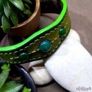 Bracelet TanTal Agate Verte...