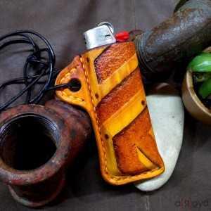 ChaKal UNIK 003 - Etui à briquet en cuir Personnalisé Unique