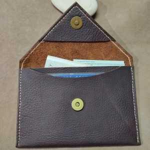 Porte Martine Grand modèle - Pochette Enveloppe en cuir