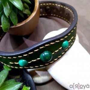 Bracelet Tantal Malachite -...
