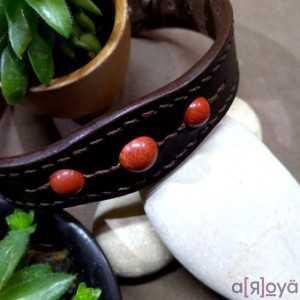 Bracelet Tantal Jaspe Rouge...