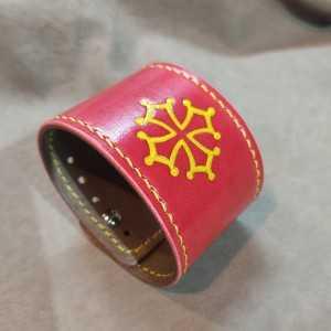 Bracelet manchette Rouge...